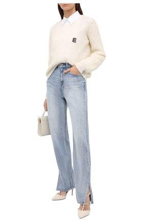 Женский шерстяной свитер ERMANNO ERMANNO SCERVINO белого цвета, арт. 47T MG25 QUE   Фото 2