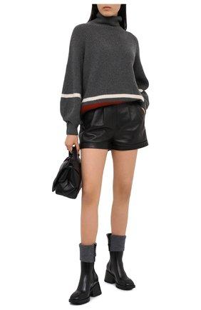 Женские резиновые ботинки betty CHLOÉ черного цвета, арт. CHC20W397N5   Фото 2