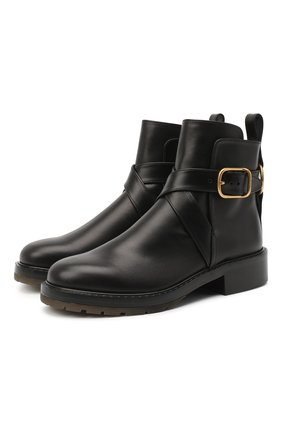 Женские кожаные ботинки diane CHLOÉ черного цвета, арт. CHC20U315L2 | Фото 1
