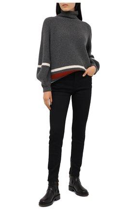 Женские кожаные ботинки diane CHLOÉ черного цвета, арт. CHC20U315L2 | Фото 2