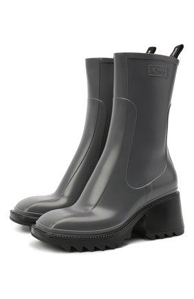 Женские резиновые ботинки betty CHLOÉ серого цвета, арт. CHC19W239G8 | Фото 1