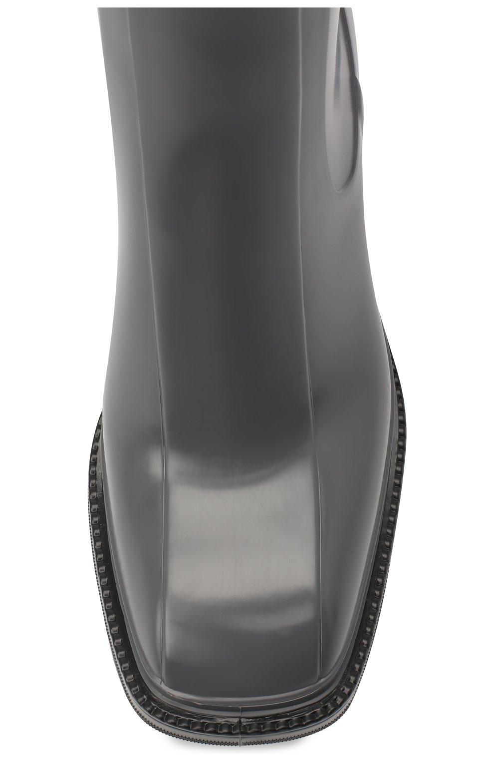 Женские резиновые ботильоны betty CHLOÉ серого цвета, арт. CHC19W239G8 | Фото 5