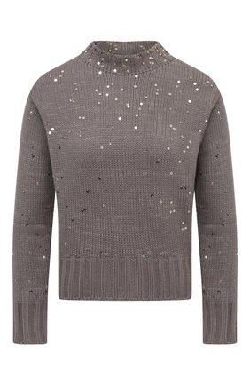 Женский шерстяной свитер LORENA ANTONIAZZI бежевого цвета, арт. SI2043GM006/204 | Фото 1