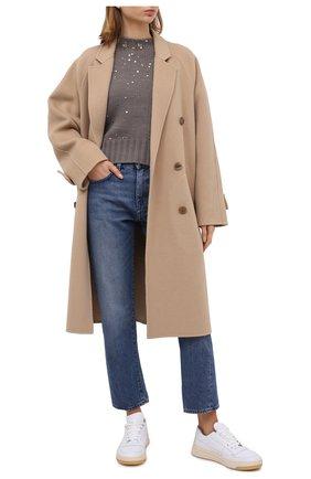 Женский шерстяной свитер LORENA ANTONIAZZI бежевого цвета, арт. SI2043GM006/204 | Фото 2