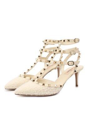 Комбинированные туфли Valentino Garavani Rockstud | Фото №1