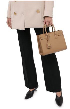 Женская сумка sac de jour baby SAINT LAURENT светло-бежевого цвета, арт. 421863/02G9W | Фото 2