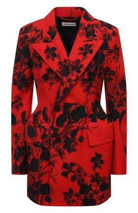 Женский шерстяной жакет BALENCIAGA красного цвета, арт. 571279/TJL02 | Фото 1