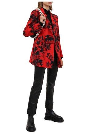 Женский шерстяной жакет BALENCIAGA красного цвета, арт. 571279/TJL02 | Фото 2