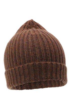 Женская кашемировая шапка ALEXANDRA GOLOVANOFF коричневого цвета, арт. NEW HAT | Фото 1
