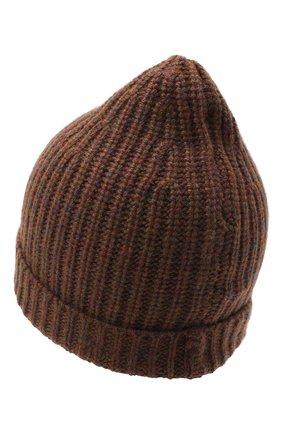 Женская кашемировая шапка ALEXANDRA GOLOVANOFF коричневого цвета, арт. NEW HAT | Фото 2