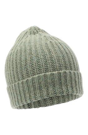 Женский кашемировая шапка ALEXANDRA GOLOVANOFF зеленого цвета, арт. NEW HAT   Фото 1