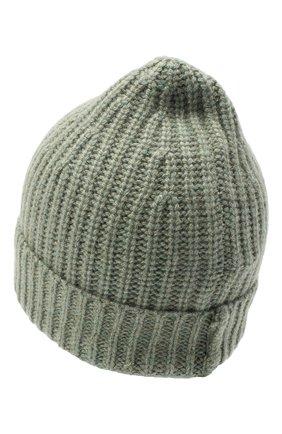 Женский кашемировая шапка ALEXANDRA GOLOVANOFF зеленого цвета, арт. NEW HAT   Фото 2