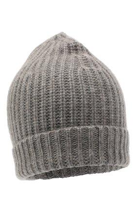 Женская кашемировая шапка ALEXANDRA GOLOVANOFF серого цвета, арт. NEW HAT | Фото 1