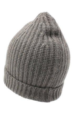 Женская кашемировая шапка ALEXANDRA GOLOVANOFF серого цвета, арт. NEW HAT | Фото 2