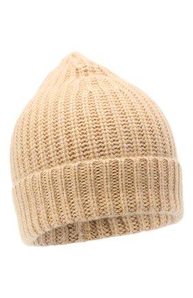 Женская кашемировая шапка ALEXANDRA GOLOVANOFF кремвого цвета, арт. NEW HAT | Фото 1