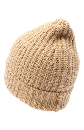 Женская кашемировая шапка ALEXANDRA GOLOVANOFF кремвого цвета, арт. NEW HAT | Фото 2
