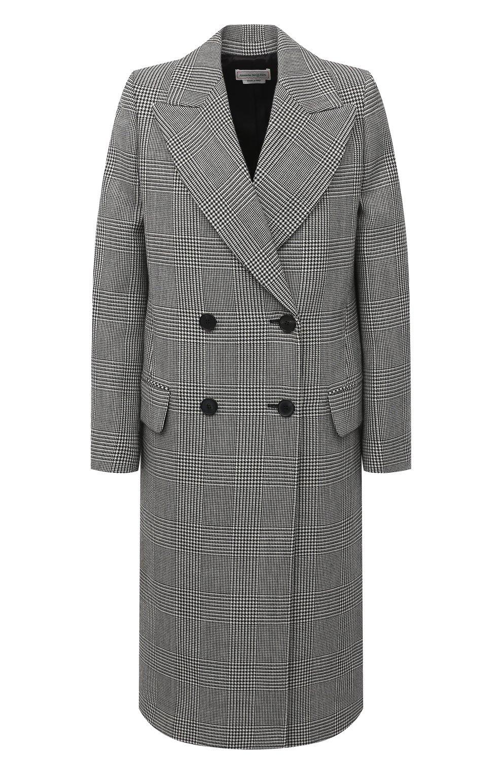 Женское шерстяное пальто ALEXANDER MCQUEEN серого цвета, арт. 632009/QKAAK | Фото 1
