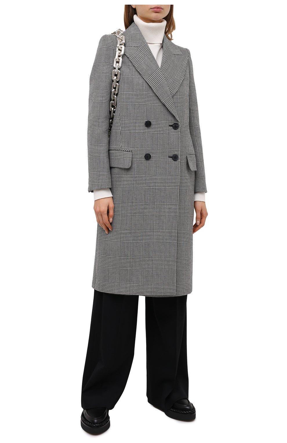 Женское шерстяное пальто ALEXANDER MCQUEEN серого цвета, арт. 632009/QKAAK | Фото 2