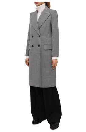 Женское шерстяное пальто ALEXANDER MCQUEEN серого цвета, арт. 632009/QKAAK | Фото 3