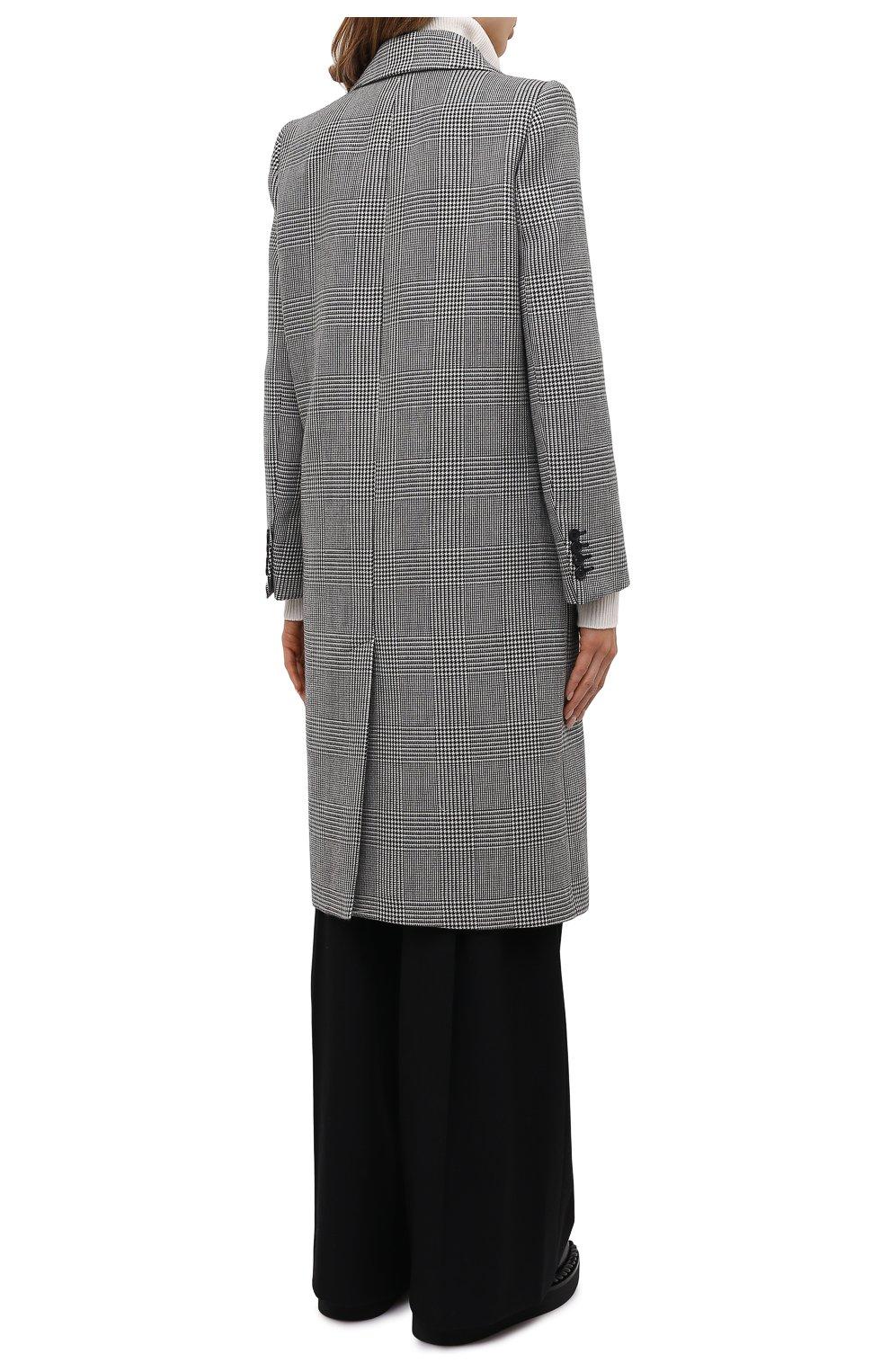 Женское шерстяное пальто ALEXANDER MCQUEEN серого цвета, арт. 632009/QKAAK | Фото 4