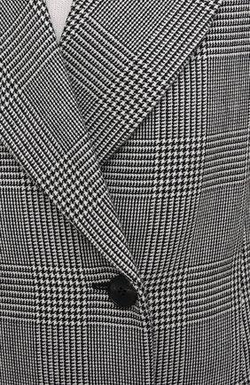 Женское шерстяное пальто ALEXANDER MCQUEEN серого цвета, арт. 632009/QKAAK | Фото 5