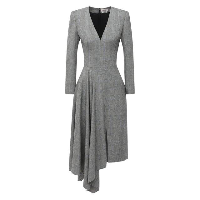 Шерстяное платье Alexander McQueen