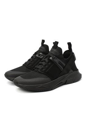 Женские комбинированные кроссовки jago TOM FORD черного цвета, арт. W2818N-T0F002 | Фото 1