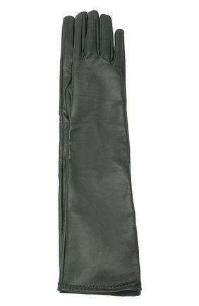 Женские кожаные перчатки MAISON MARGIELA зеленого цвета, арт. S51TS0047/SY1319 | Фото 1