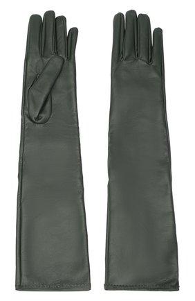 Женские кожаные перчатки MAISON MARGIELA зеленого цвета, арт. S51TS0047/SY1319 | Фото 2