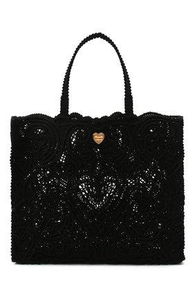 Женский сумка-шопер beatrice DOLCE & GABBANA черного цвета, арт. BB6957/AW717 | Фото 1