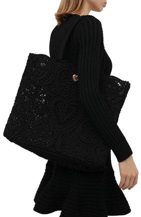 Женский сумка-шопер beatrice DOLCE & GABBANA черного цвета, арт. BB6957/AW717 | Фото 2