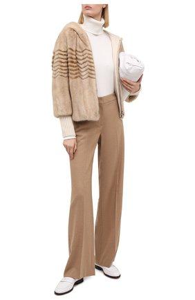 Женская шуба из меха норки LORO PIANA бежевого цвета, арт. FAF0833   Фото 2