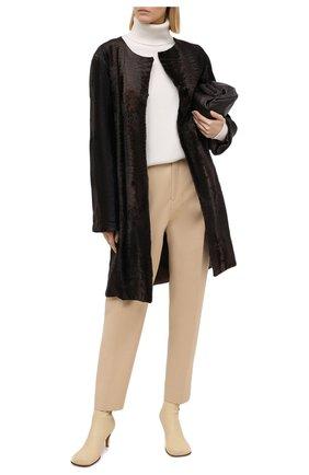Женская шуба из меха каракуля YVES SALOMON коричневого цвета, арт. 6WTM96195BREX   Фото 2
