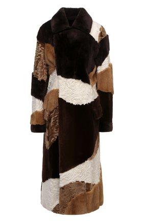 Женская шуба из меха норки и каракуля TOM FORD коричневого цвета, арт. CPF510/T80028 | Фото 1