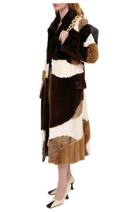 Женская шуба из меха норки и каракуля TOM FORD коричневого цвета, арт. CPF510/T80028 | Фото 2