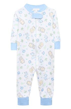 Детский хлопковый комбинезон MAGNOLIA BABY голубого цвета, арт. 562-ZP-LB | Фото 1