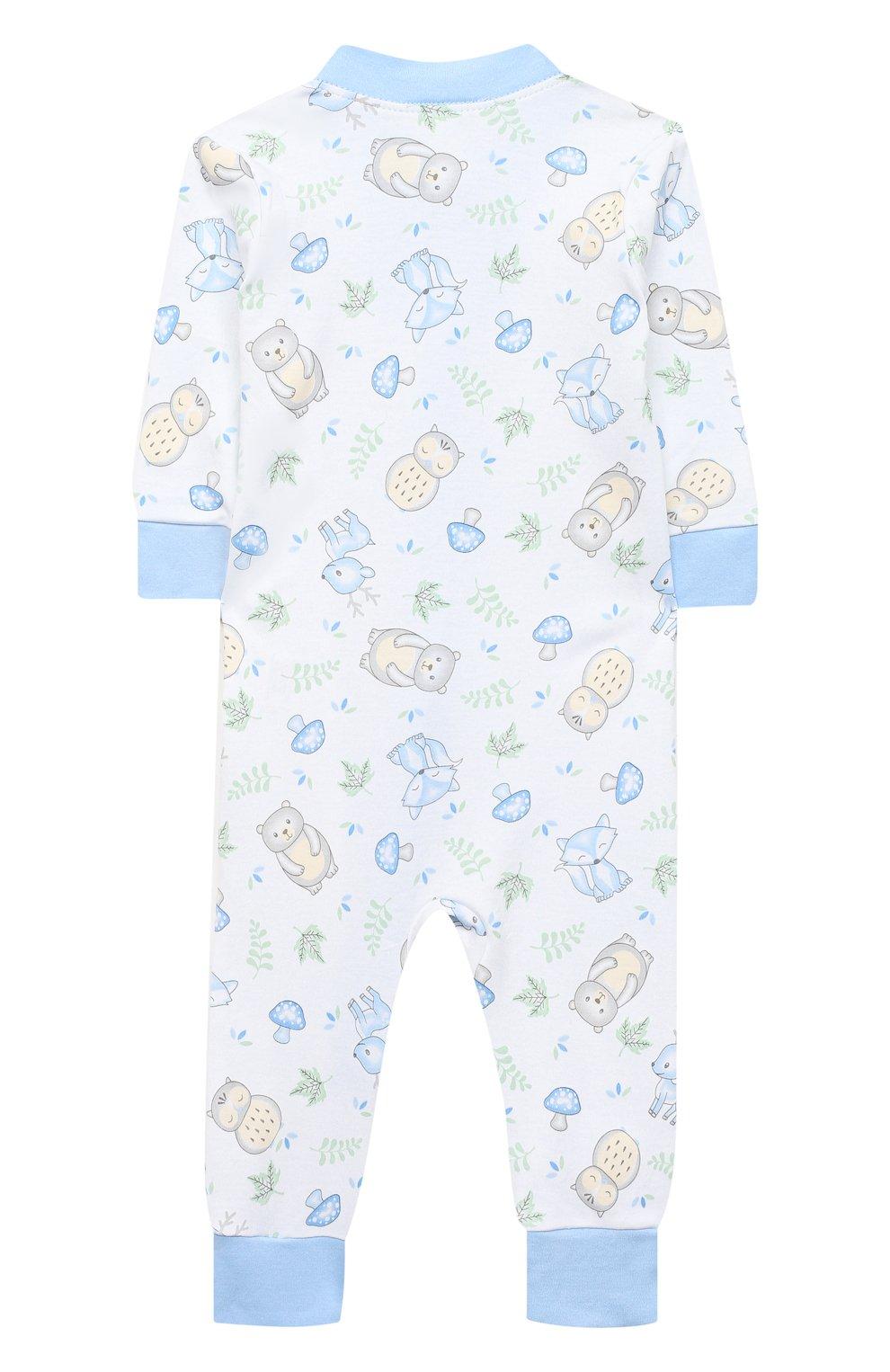 Детский хлопковый комбинезон MAGNOLIA BABY голубого цвета, арт. 562-ZP-LB   Фото 2