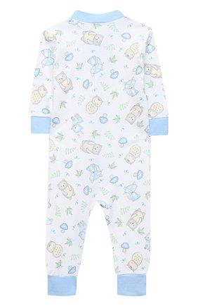 Детский хлопковый комбинезон MAGNOLIA BABY голубого цвета, арт. 562-ZP-LB | Фото 2
