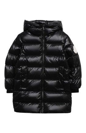 Детское пуховое пальто MONCLER черного цвета, арт. F2-954-1C514-20-68950/4-6A | Фото 1