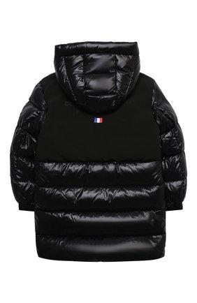 Детское пуховое пальто MONCLER черного цвета, арт. F2-954-1C514-20-68950/4-6A | Фото 2