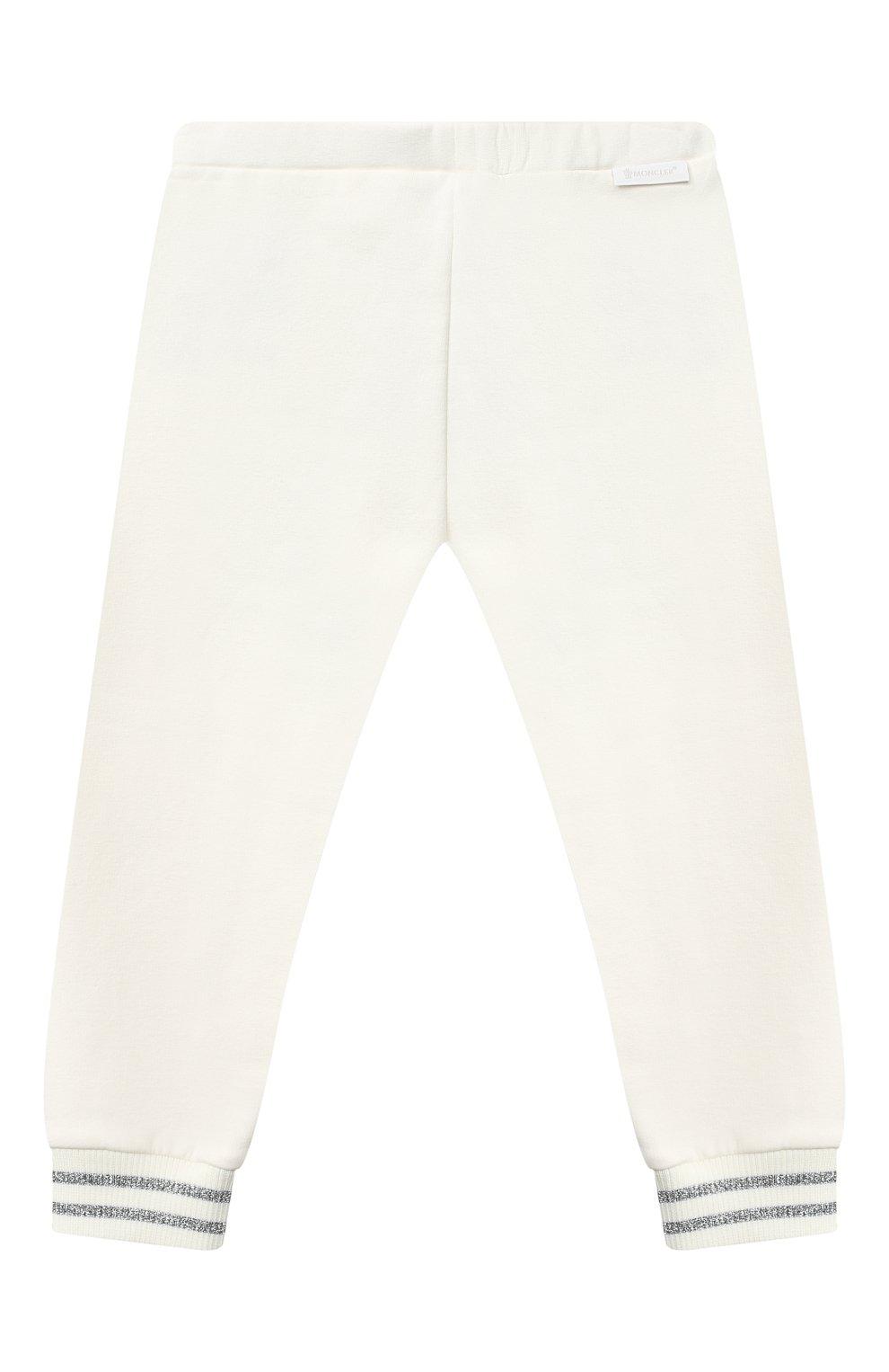Детский комплект из толстовки и брюк MONCLER белого цвета, арт. F2-951-8M727-10-809EH | Фото 5