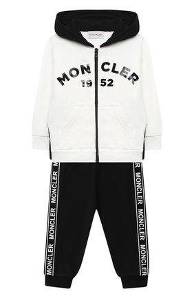 Детский комплект из толстовки и брюк MONCLER белого цвета, арт. F2-951-8M730-20-80996 | Фото 1