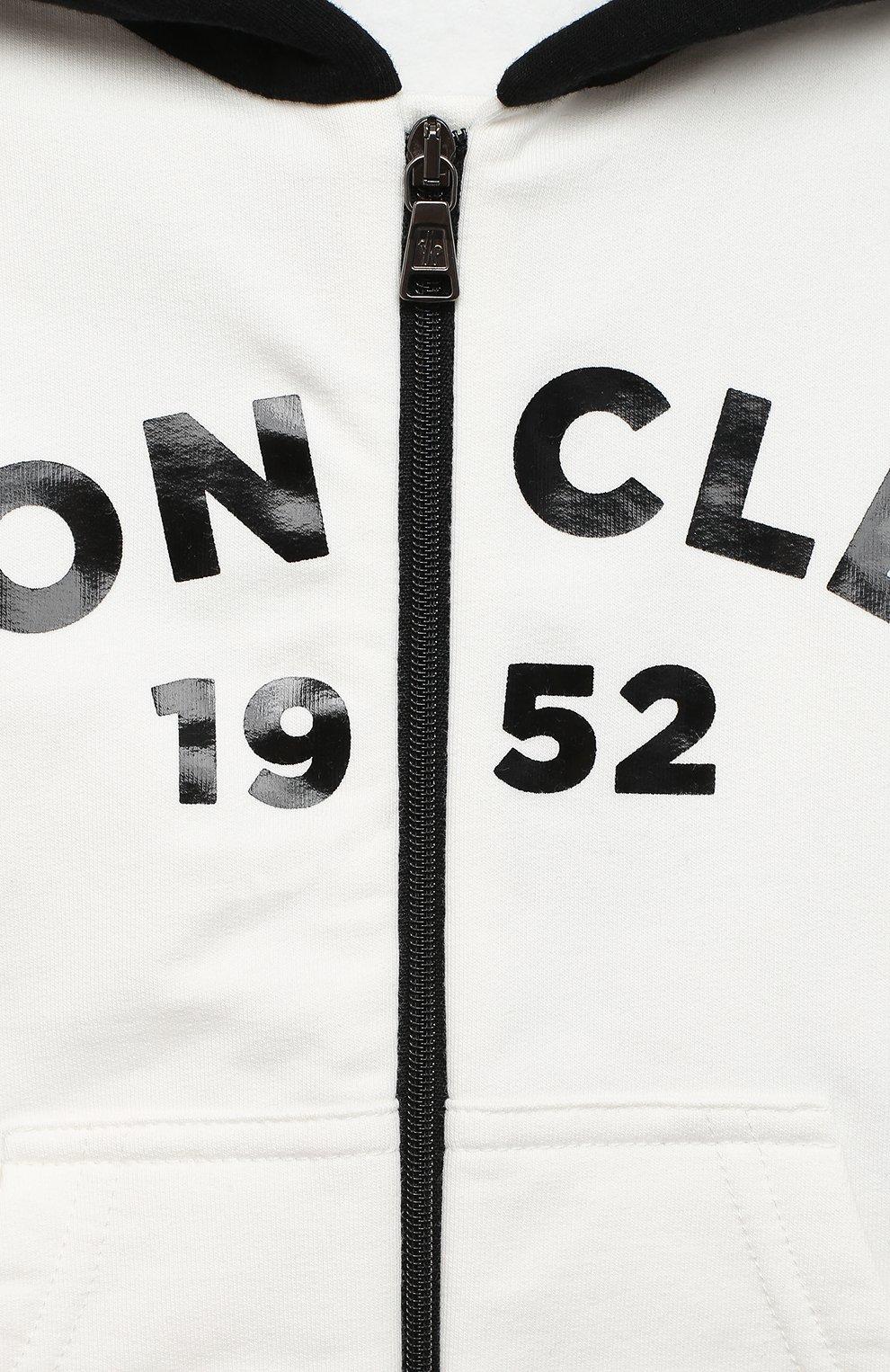Детский комплект из толстовки и брюк MONCLER белого цвета, арт. F2-951-8M730-20-80996 | Фото 6