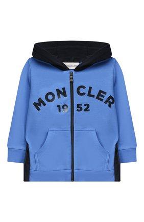 Детский комплект из толстовки и брюк MONCLER голубого цвета, арт. F2-951-8M730-20-80996 | Фото 2
