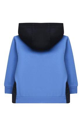 Детский комплект из толстовки и брюк MONCLER голубого цвета, арт. F2-951-8M730-20-80996   Фото 3