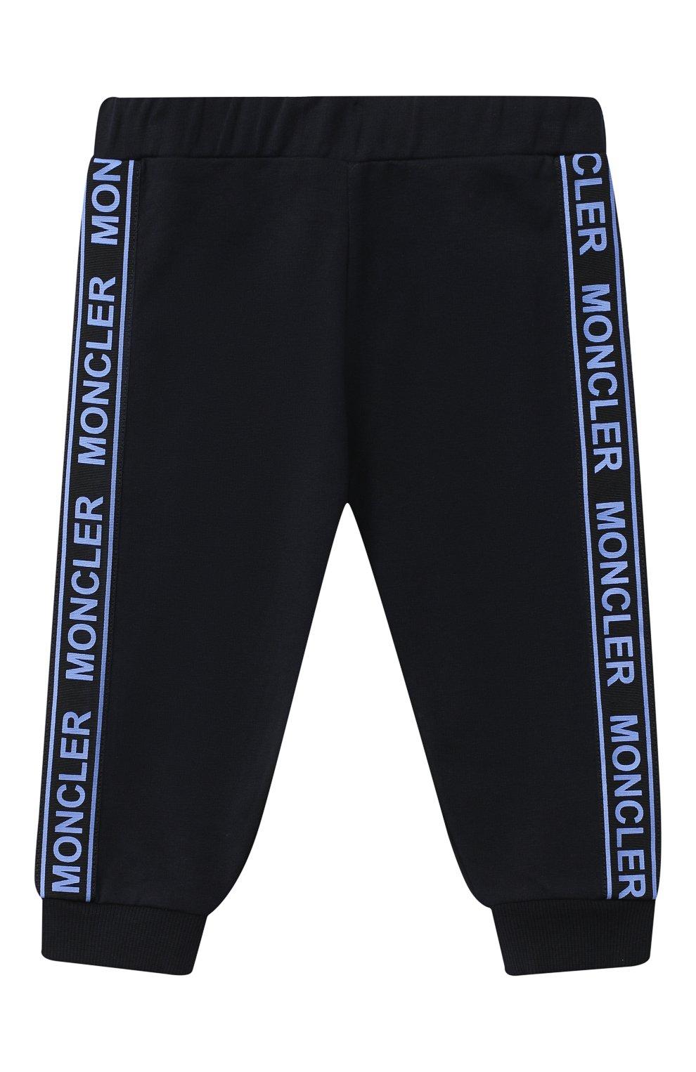 Детский комплект из толстовки и брюк MONCLER голубого цвета, арт. F2-951-8M730-20-80996   Фото 4