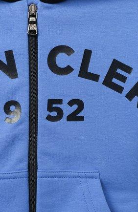 Детский комплект из толстовки и брюк MONCLER голубого цвета, арт. F2-951-8M730-20-80996   Фото 6