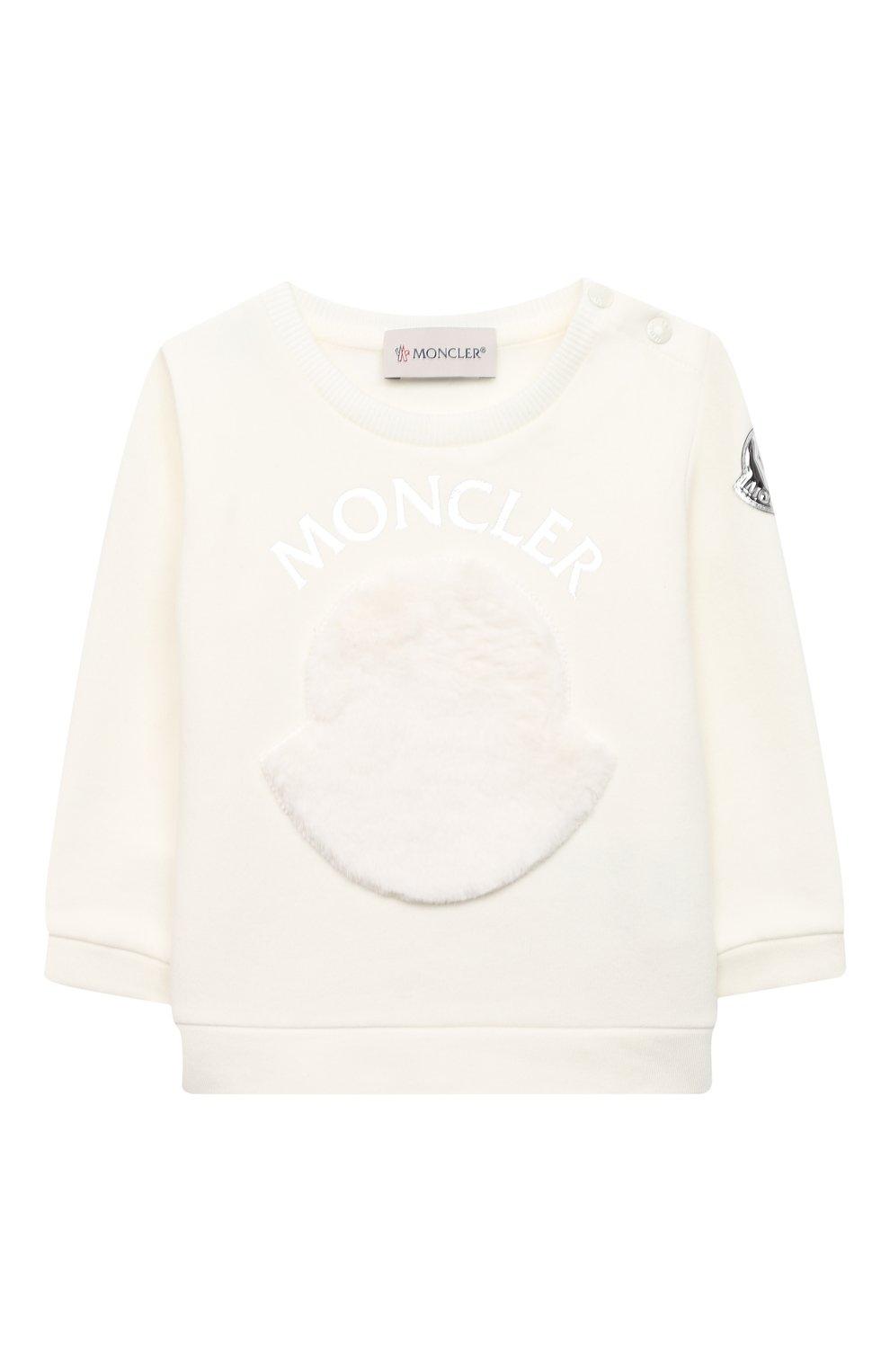 Детский комплект из свитшота и брюк MONCLER белого цвета, арт. F2-951-8M734-10-809EH   Фото 2