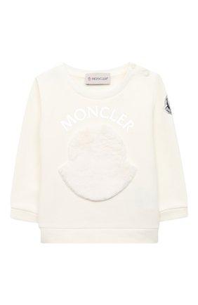 Детский комплект из свитшота и брюк MONCLER белого цвета, арт. F2-951-8M734-10-809EH | Фото 2