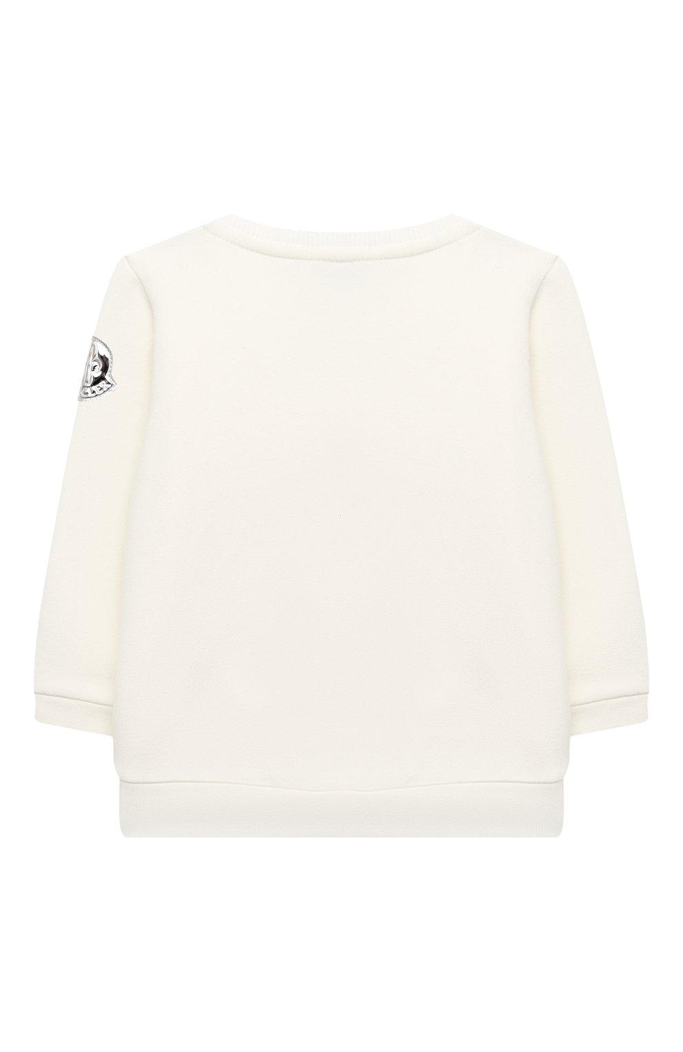 Детский комплект из свитшота и брюк MONCLER белого цвета, арт. F2-951-8M734-10-809EH   Фото 3